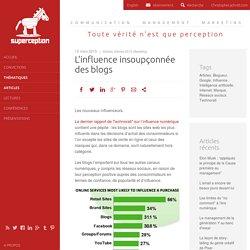 L'influence insoupçonnée des blogs