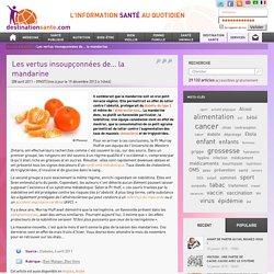 Les bienfaits de la mandarine