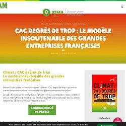 2 mars 2021 CAC degrés de trop : le modèle insoutenable des grandes entreprises françaises- Oxfam France