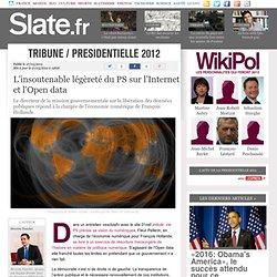 L'insoutenable légèreté du PS sur l'Internet et l'Open data