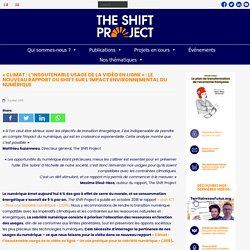 « Climat : l'insoutenable usage de la vidéo » : le nouveau rapport du Shift