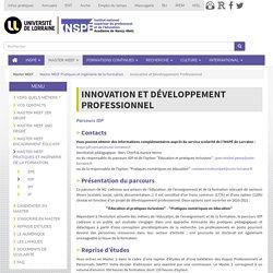 Innovation et Développement Professionnel