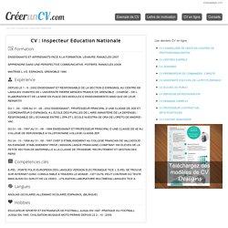 CV Inspecteur Education Nationale N°1849 - Exemple de CV Inspecteur Education Nationale