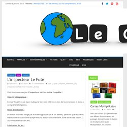 L'inspecteur Le Futé mène l'enquête ! – Le blog du Cancre