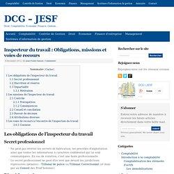 Inspecteur du travail : Obligations, missions et voies de recours