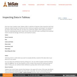 Inspecting Data in Tableau