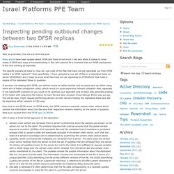 Inspecting pending outbound changes between two DFSR replicas - Israel Platforms PFE Team
