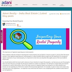 Inspecting Your Rental Property