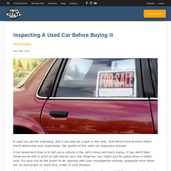 Inspecting A Used Car Before Buying It