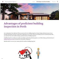 Advantages of proficient building inspection in Perth