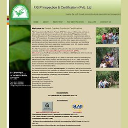Forest Garden Products Inspection & Certification (Pvt.) Ltd.