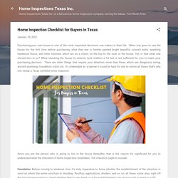 Home Inspection Checklist for Buyers in Texas