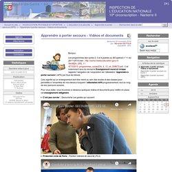 Apprendre à porter secours - Vidéos et documents - INSPECTION DE L'ÉDUCATION NATIONALE 10e circonscription - Nanterre II