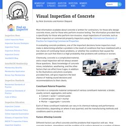 Visual Inspection of Concrete - InterNACHI