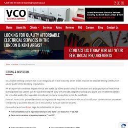 Testing & Inspection - VCO Electrical Services