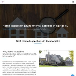 Home Inspection Environmental Services in Fairfax FL