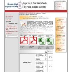 ..: Epinay-sur-Web: Inspection de l'Education Nationale [Liaison GS-CP : Evaluation S'APPROPRIER LE LANGAGE DÉCOUVRIR L'ECRIT] :..