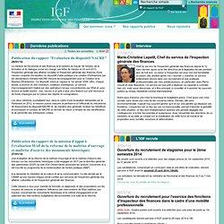 Inspection Générale des Finances - IGF - Accueil
