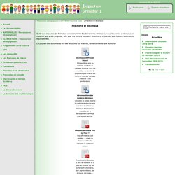 Inspection de Grenoble 1 [Fractions et décimaux] :..