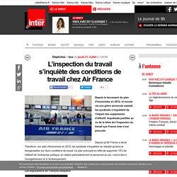L'inspection du travail s'inquiète des conditions de travail chez Air France