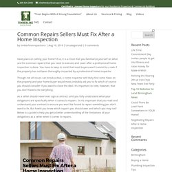 Common Repairs Sellers Must Fix After a Home Inspection - Timberline Inspections LLC