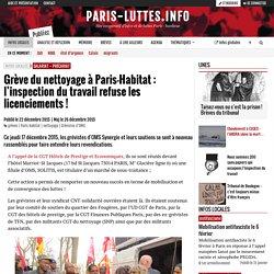 Grève du nettoyage à Paris-Habitat : l'inspection du travail refuse les licenciements