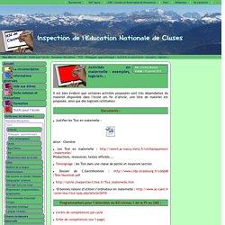 Inspection de l'Education Nationale de Cluses - Activités en maternelle : exemples, logiciels...