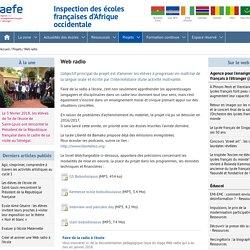 Web radio - Inspection des écoles françaises d'Afrique occidentale