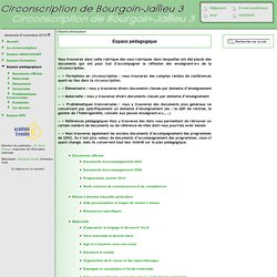 Inspection de Bourgoin Jallieu 3 [Espace pédagogique] :..