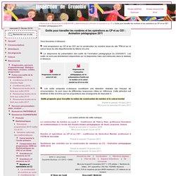 Inspection de Grenoble 5 [Outils pour travailler les nombres et les opérations au CP et au CE1 : Animation pédagogique 2011 ] :..