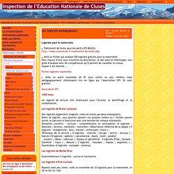 Inspection de l'Education Nationale de Cluses - Les logiciels pédagogiques