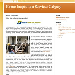 Call the professionals from Integra-Inspections.com for your home inspection