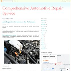 Auto Inspections for Improved Car Performance