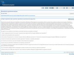 Inspections des conserves importées en provenance de pays tiers - E-2640/2010