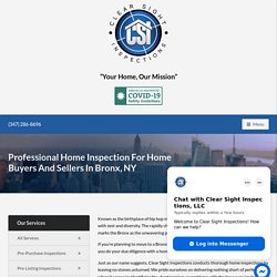 Home Inspector Bronx NY – Clear Sight Inspections