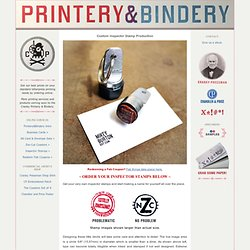 Custom Inspector Stamp Production - Cranky Printery & Bindery