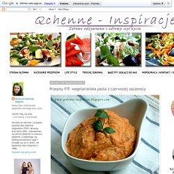 Qchenne-Inspiracje! FIT blog o zdrowym stylu życia i zdrowym odżywianiu. Kaloryczność potraw. : Przepisy FIT: wegetariańska pasta z czerwonej soczewicy