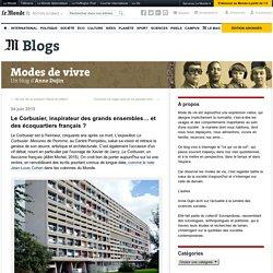 Le Corbusier, inspirateur des grands ensembles… et des écoquartiers français ?