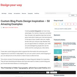 Custom Blog Posts Design Inspiration - 50 Amazing Examples
