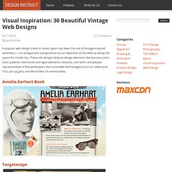 Visual Inspiration: 30 Beautiful Vintage Web Designs