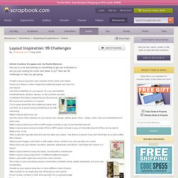 ing Article: Layout Inspiration: 99 Challenges