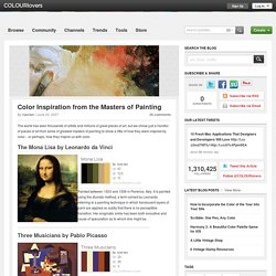 Color Inspiration from the Masters of Painting by COLOURlovers