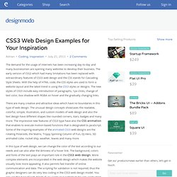 CSS3 Web Design Examples for Your Inspiration