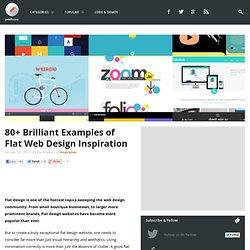 80+ Brilliant Examples of Flat Web Design Inspiration