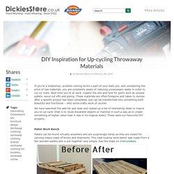 DIY Inspiration for Up-cycling Throwaway Materials