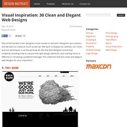 Visual Inspiration: 30 Clean and Elegant Web Designs