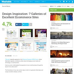 Design Inspiration: 7 Galleries of Excellent Ecommerce Sites