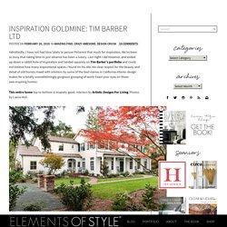 Inspiration Goldmine: Tim Barber Ltd - Elements of Style Blog