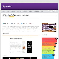 25 Websites for Typography Inspiration