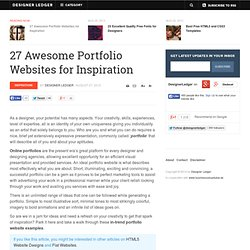 27 Awesome Portfolio Websites for Inspiration